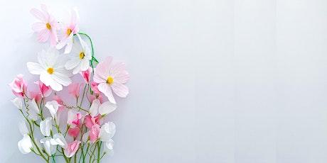 Taller de flores de papel:  Cosmos y guisante de olor entradas