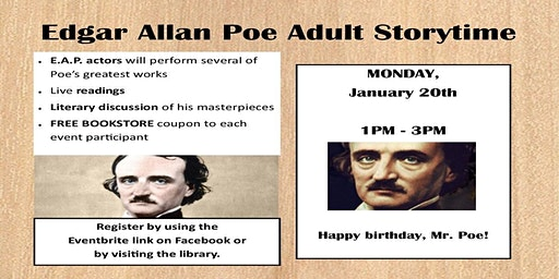 Edgar Allan Poe: Adult Storytime