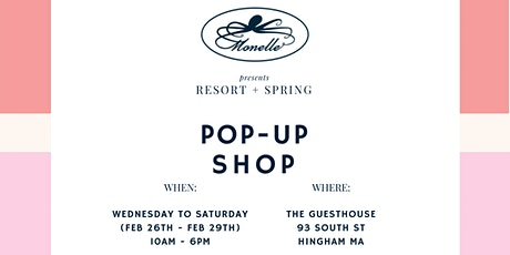Monelle Boutique Pop-Up Shop (Feb 26th - Feb 29th) tickets
