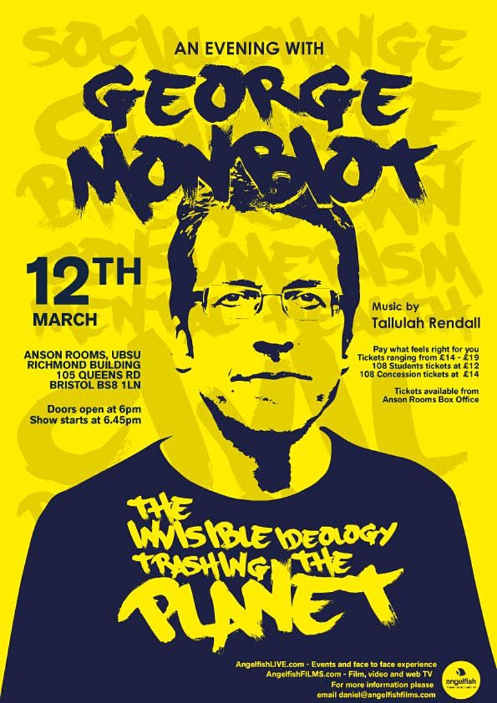George Monbiot - Bristol - postponed till MAY  2021. image