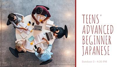 Teens' Advanced Beginner Japanese  tickets
