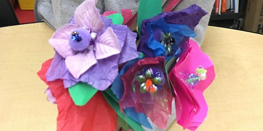 Free Art Workshop for Kids - Paper Flower Making  11:30 am class
