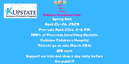 Buy Bye Baby Spring Pre-sale to benefit Golisano Children's Hospital