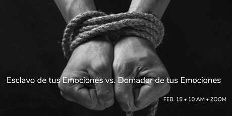 Coaching por ZOOM: Esclavo de Tus Emociones vs. Domador de tus Emociones tickets