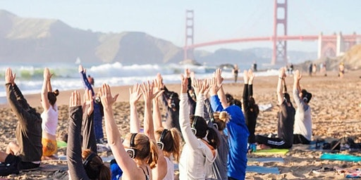 Saturday Groove Beach Yoga with Sarah!