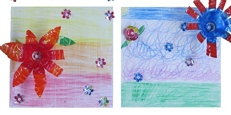 Free Art Workshop for Kids - Recycled Art Flowers   11:30 class tickets