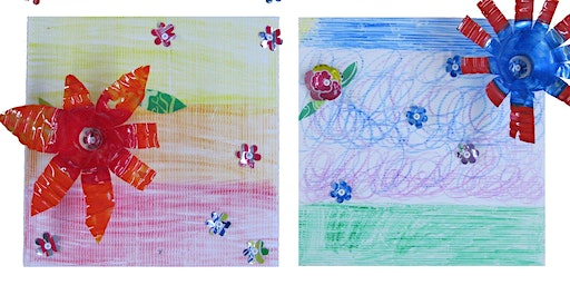 Free Art Workshop for Kids - Recycled Art Flowers   11:30 class