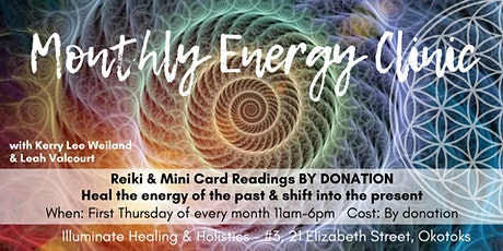 BY DONATION: Monthly Energy Clinic tickets