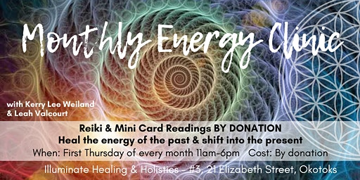 BY DONATION: Monthly Energy Clinic