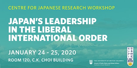 Japan's Leadership in the Liberal International Order - Panel 1 tickets