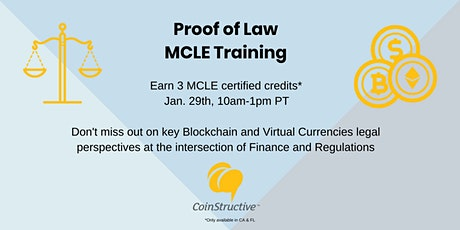 Blockchain & Virtual Currencies Legal Training - 3 MCLE tickets