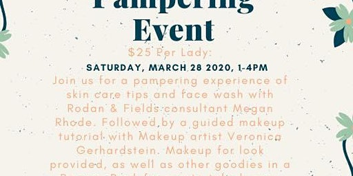 Ladies Pampering Event (Open to Public)