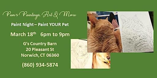 Paint Night - Paint YOUR Pet