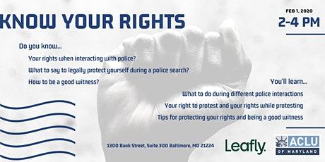Know Your Rights: Police Interactions tickets