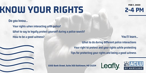Know Your Rights: Police Interactions
