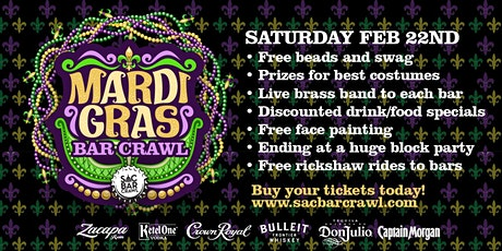 MARDI GRAS BAR CRAWL tickets