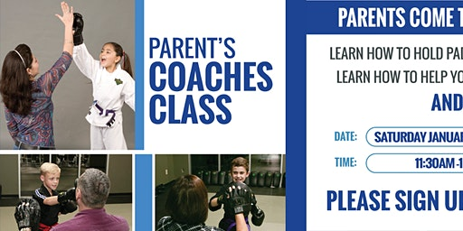 Parents Coaches Workshop: Saturday January 25, 2020
