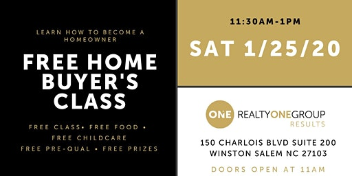 Free Home Buyer's Class with Free Childcare