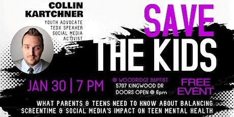 Collin Kartchner Save the Kids 2020 tickets