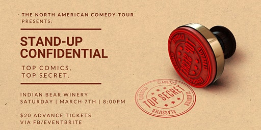 Stand-Up Confidential at Indian Bear Winery