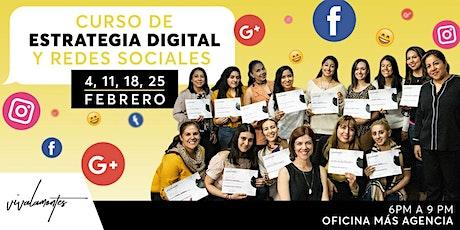 CURSO DE SOCIAL MEDIA -4 SEMANAS- boletos