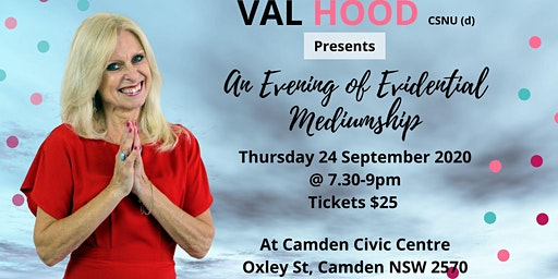 An Evening of Mediumship with Val - 24 September