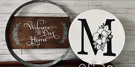 Paint and Sip Wood Sign Party tickets