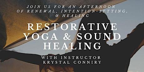 Restorative Yoga and Sound Healing tickets