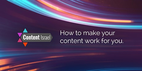 Content Israel 2020 tickets