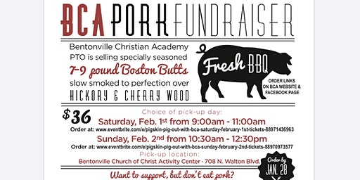 Pigskin Pig Out with BCA (Saturday February 1st)