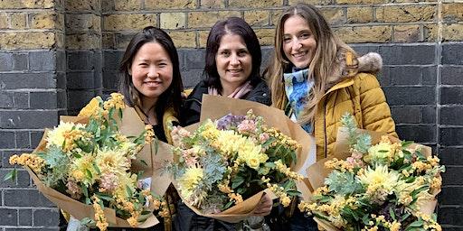 Hand Tied Bouquet Making Workshop Using Seasonal Flowers