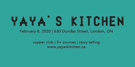Black History Month Supper Club, Feb 8, 2020 by Yaya's Kitchen tickets