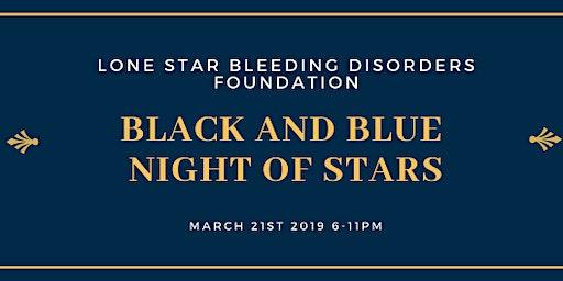 Black and Blue Night of Stars