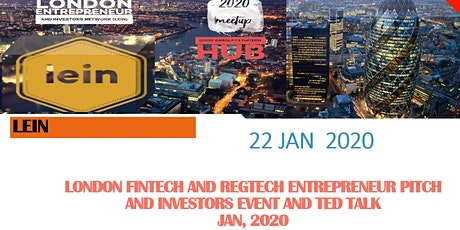 Startup Entrepreneur Pitch, Investors, Fintech & RegTech Leaders TED Talk tickets