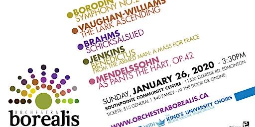 Orchestra Borealis plays Vaughan Williams, Borodin, Brahms and Mendelssohn