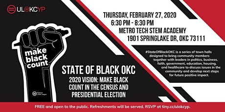 #StateOfBlackOKC Town Hall tickets