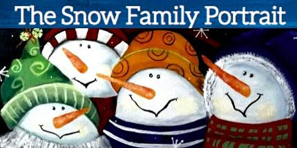 Snow Family Painting on Canvas