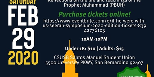 """If He Were With Us"" Seerah Symposium 2020 Edition"