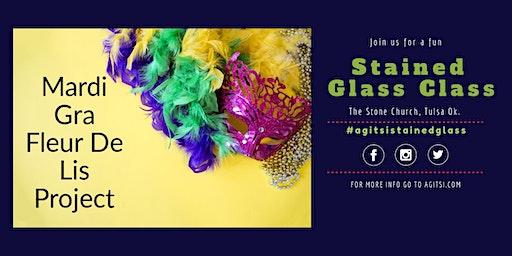 Mardi Gras Fleur De Lis Stained Glass Class