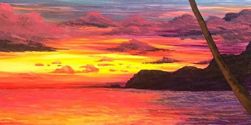 Tropical landscape in acrylic with Maggie Mylow