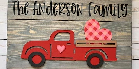 Sip n' Design Party - 3D VINTAGE TRUCK SIGN billets
