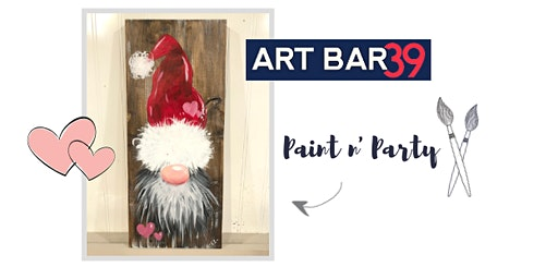 Valentines or Galenintes Paint & Sip - Gnomeo & Juliet on Rustic Pine Board
