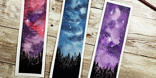 Starry Skies Watercolor Class (Speckled Hen)