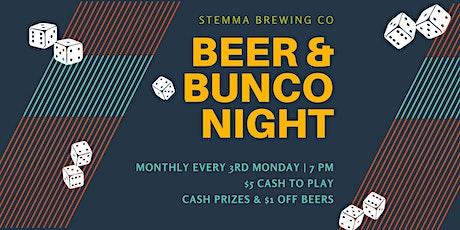 Beer & Bunco tickets