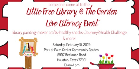 The Little Free Library @The Garden LOVE LITERACY Event tickets