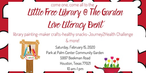 The Little Free Library @The Garden LOVE LITERACY Event