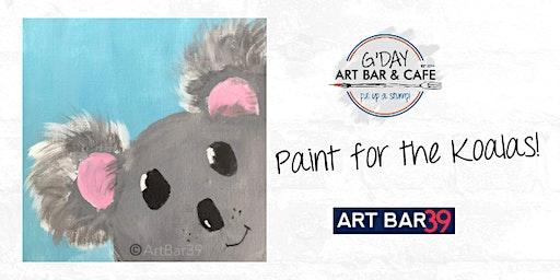 Paint for the Koalas Fundraiser - Includes Cookies & Milk!