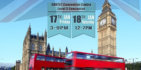 UK Unis & Pathways Info & Appln Expo @ Suntec Fri 17 Jan & Sat 18 Jan Level 3 Concourse tickets