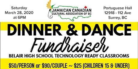 Jamaican Canadian Cultural Association Dinner & Dance Fundraiser tickets