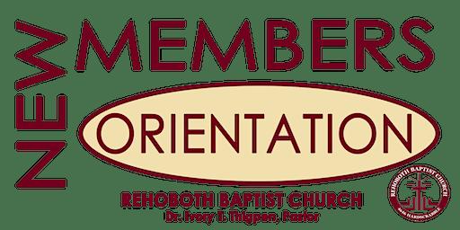 New Members Orientation